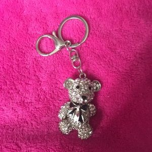 Rhinestone teddy bear key chain